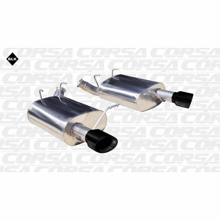 "CORSA 2.5"" Dual Rear Axle-Back Exhaust 2011-2013 Ford Mustang V6 3.7L V6"