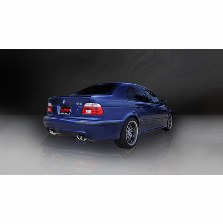 "CORSA 2.5"" Dual Rear Cat-Back Exhaust 1998-2003 BMW M5 E39"