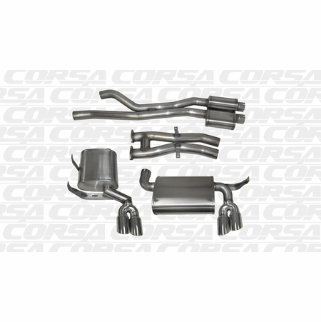 "CORSA 2.5"" Dual Rear Cat-Back Exhaust 2001-2006 BMW M3 E46"
