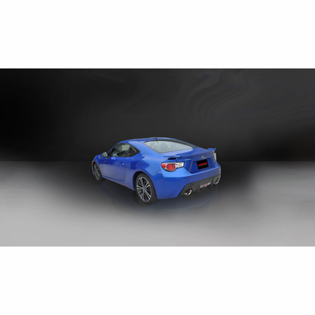 "CORSA 2.5"" Dual Rear Cat-Back Exhaust 2012-2014 Scion FRS Coupe 2.0L"