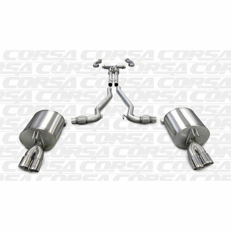 "CORSA 2.5"" Dual Rear Cat-Back Exhaust + X-Pipe 2008-2009 Pontiac G8 GXP 6.0L V8"