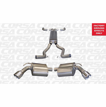 "CORSA 2.5"" Dual Rear Cat-Back Exhaust + X-Pipe 2011-2013 Chevrolet Camaro SS Convertible 6.2L V8 Auto"