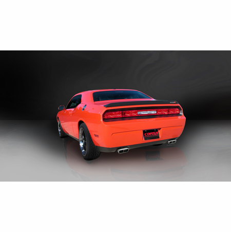 "CORSA 2.75"" Dual Rear Cat-Back Exhaust 2008-2010 Dodge Challenger SRT-8 6.1L V8"