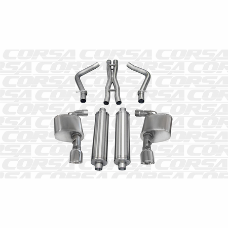 "CORSA 2.75"" Dual Rear Cat-Back Exhaust 2012-2014 Dodge Charger SRT-8 6.4L V8"