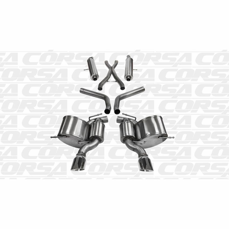 "CORSA 2.75"" Dual Rear Cat-Back Exhaust 2012-2014 Jeep Grand Cherokee 6.4L SRT8 V8"