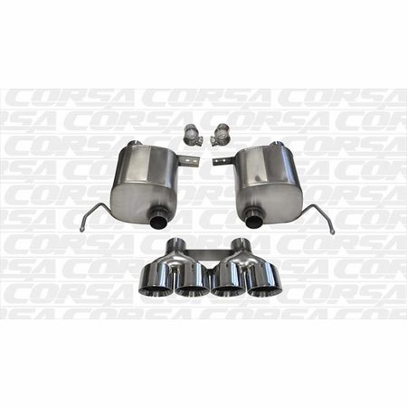 "CORSA 2.75"" Dual Rear Valve-Back Exhaust 2014-2014 Chevrolet Corvette C7 Coupe 6.2L V8 Manual"
