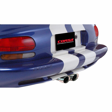 "CORSA 3.0"" Dual Center Rear Cat-Back Exhaust 1996-2002 Dodge Viper GTS 8.0L V10"