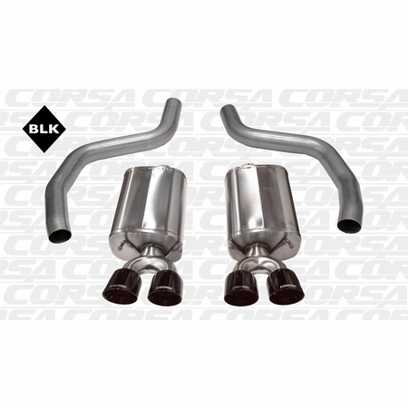 "CORSA 3.0"" Dual Rear Axle-Back Exhaust 2006-2013 Chevrolet Corvette C6 ZR1 6.2L V8"