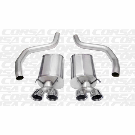 "CORSA 3.0"" Dual Rear Axle-Back Exhaust 2006-2013 Chevrolet Corvette C6 Z06 7.0L V8"