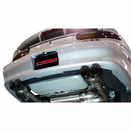 "CORSA 3.0"" Dual Rear Cat-Back Exhaust 1995-1997 Chevrolet Camaro SS Convertible 5.7L V8 LT1"
