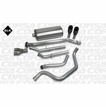 "CORSA 3.0"" Dual Rear Cat-Back Exhaust 1999-2007 GMC Sierra 1500 Extended Cab/Short Bed 4.8L V8 133.9"""