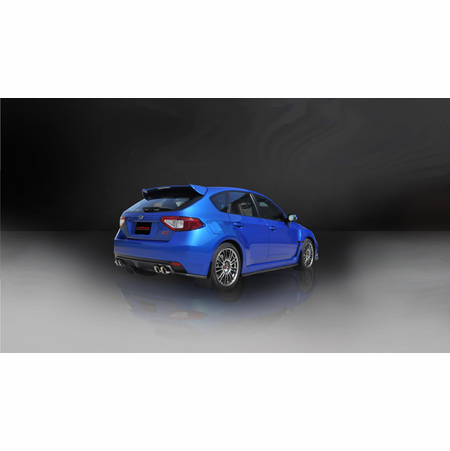 "CORSA 3.0"" Dual Rear Cat-Back Exhaust 2008-2013 Subaru Impreza STI Hatchback 2.5L Turbo Manual"