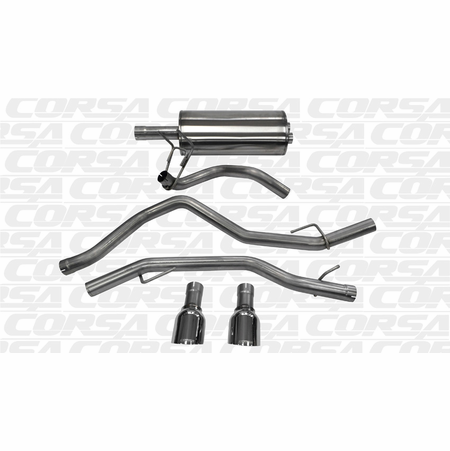"CORSA 3.0"" Dual Rear Cat-Back Exhaust 2009-2014 Dodge Ram 1500 Quad Cab/Short Bed 5.7L V8 140"""