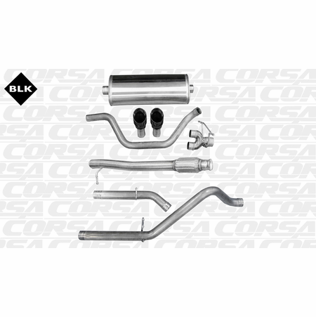"CORSA 3.0"" Dual Rear Cat-Back Exhaust 2010-2013 Chevrolet Silverado 1500 Extended Cab/Standard Bed 5.3L V8 143.5"""