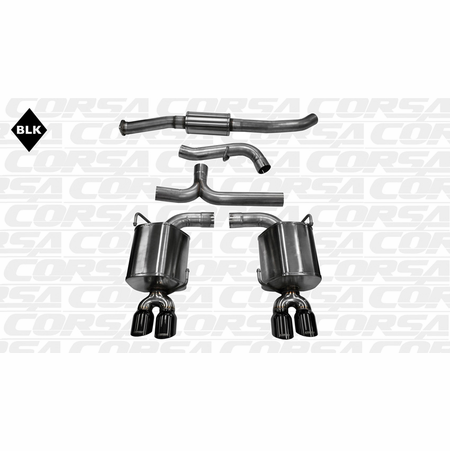 "CORSA 3.0"" Dual Rear Cat-Back Exhaust 2011-2013 Subaru Impreza STI Sedan 2.5L Turbo Manual"