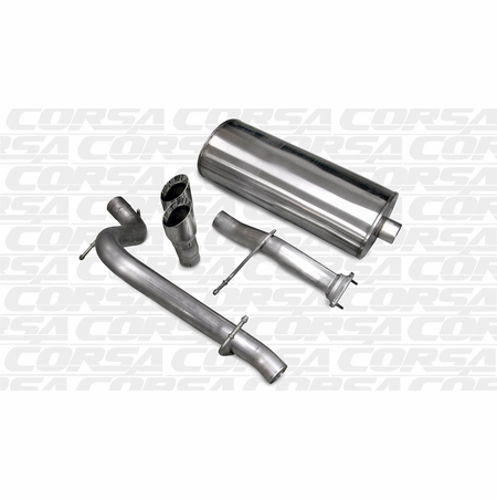 "CORSA 3.0"" Single Rear Cat-Back Exhaust 2007-2008 Hummer H2 6.2L V8"