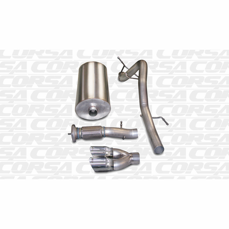 "CORSA 3.0"" Single Rear Cat-Back Exhaust 2007-2010 GMC Yukon Denali XL 6.2L V8"