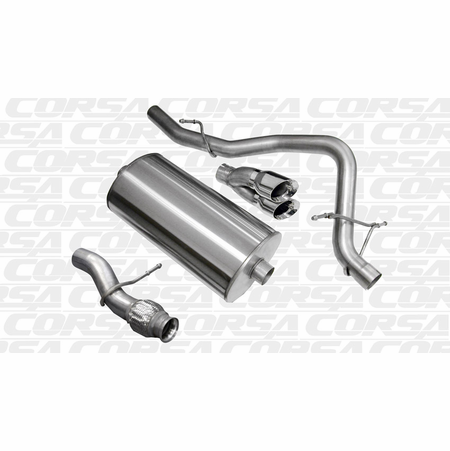 "CORSA 3.0"" Single Rear Cat-Back Exhaust 2009-2014 GMC Yukon Yukon 5.3L V8"