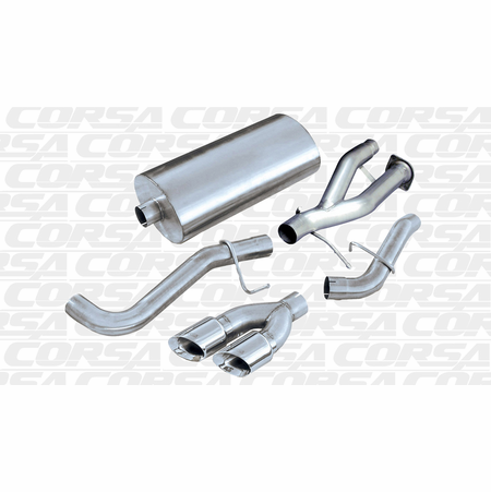 "CORSA 3.0"" Single Side Cat-Back Exhaust 2002-2006 GMC Yukon Denali XL 6.0L V8"