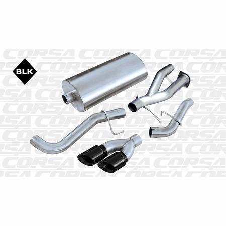 "CORSA 3.0"" Single Side Cat-Back Exhaust 2002-2006 Cadillac Escalade Escalade 6.0L V8"