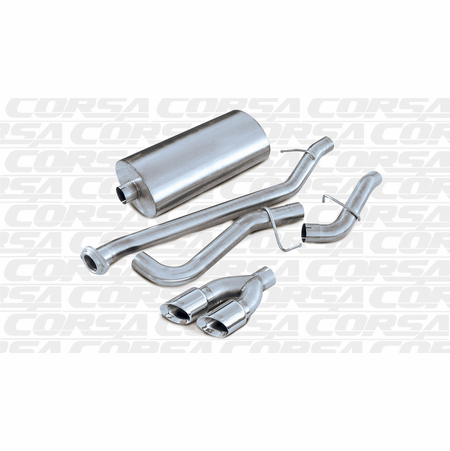 "CORSA 3.0"" Single Side Cat-Back Exhaust 2002-2006 Chevrolet Tahoe 5.3L V8"