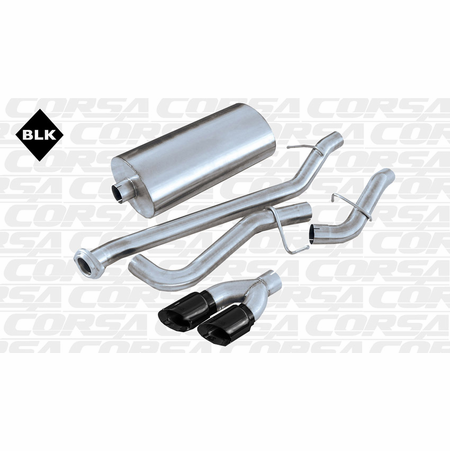 "CORSA 3.0"" Single Side Cat-Back Exhaust 2002-2007 GMC Sierra 1500 Regular Cab/Short Bed 4.8L V8 119"""