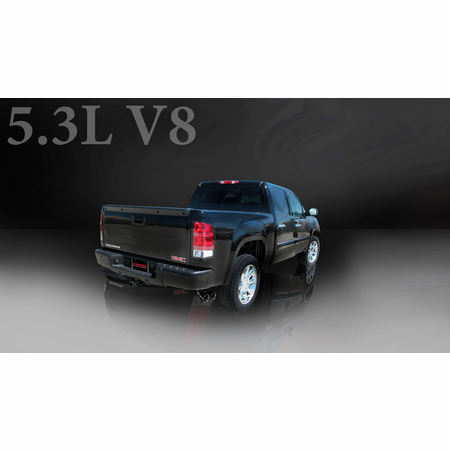 "CORSA 3.0"" Single Side Cat-Back Exhaust 2007-2008 Chevrolet Silverado 1500 Extended Cab/Standard Bed 5.3L V8 143.5"""