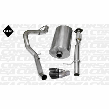 "CORSA 3.0"" Single Side Cat-Back Exhaust 2007-2008 GMC Yukon XL 1500 6.0L V8"