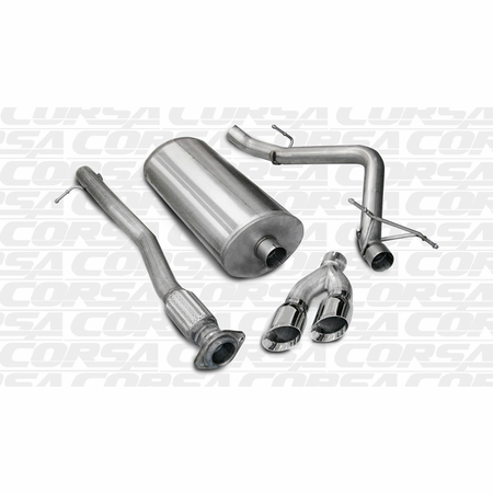 "CORSA 3.0"" Single Side Cat-Back Exhaust 2007-2008 GMC Sierra 1500 Extended Cab/Standard Bed 4.8L V8 143.5"""