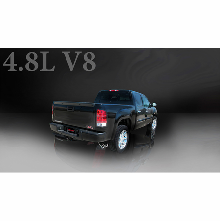 "CORSA 3.0"" Single Side Cat-Back Exhaust 2007-2008 GMC Sierra 1500 Crew Cab/Short Bed 5.3L V8 143.5"""