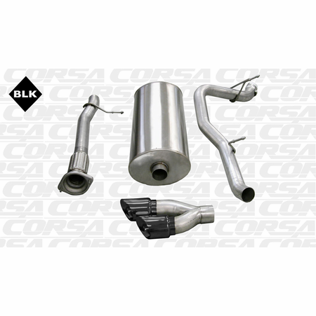 "CORSA 3.0"" Single Side Cat-Back Exhaust 2007-2010 Cadillac Escalade EXT 6.2L V8"