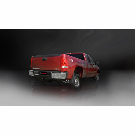 "CORSA 3.0"" Single Side Cat-Back Exhaust 2007-2010 Chevrolet Silverado 2500 Crew Cab/Standard Bed 6.0L V8 153"""