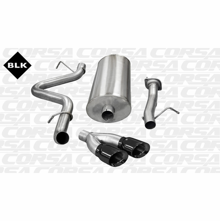 "CORSA 3.0"" Single Side Cat-Back Exhaust 2007-2010 GMC Sierra Denali 1500 Extended Cab/Standard Bed 6.0L V8 143.5"""