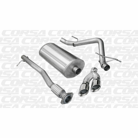 "CORSA 3.0"" Single Side Cat-Back Exhaust 2009-2009 GMC Sierra 1500 Crew Cab/Short Bed 5.3L V8 143.5"""