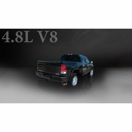 "CORSA 3.0"" Single Side Cat-Back Exhaust 2009-2009 Chevrolet Silverado 1500 Crew Cab/Short Bed 5.3L V8 143.5"""