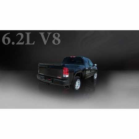 "CORSA 3.0"" Single Side Cat-Back Exhaust 2010-2010 GMC Sierra Denali 1500 Crew Cab/Short Bed 6.2L V8 143.5"""