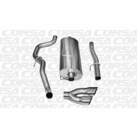 "CORSA 3.0"" Single Side Cat-Back Exhaust 2010-2013 Dodge Ram 2500 Crew Cab/Long Bed 5.7L V8 169"""