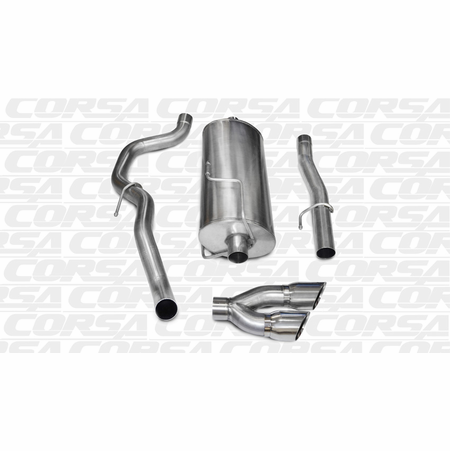 "CORSA 3.0"" Single Side Cat-Back Exhaust 2010-2013 Dodge Ram 2500 Regular Cab/Long Bed 5.7L V8 140.5"""