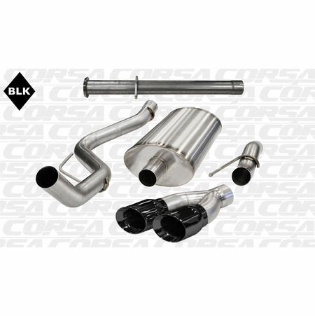 "CORSA 3.0"" Single Side Cat-Back Exhaust 2011-2014 Ford F-150 Raptor SuperCab 6.2L V8 133"""