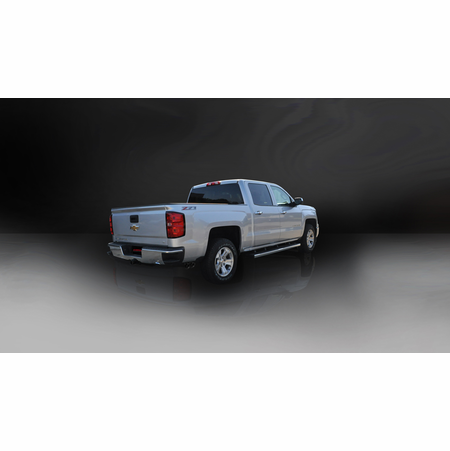 "CORSA 3.0"" Single Side Cat-Back Exhaust 2014-2014 Chevrolet Silverado 1500 Double Cab/Standard Bed 5.3L V8 Auto 143.5"""