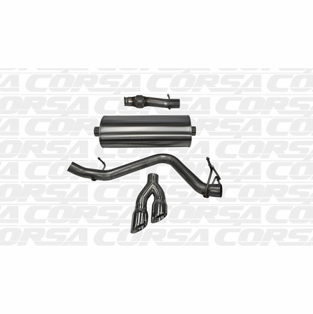 "CORSA 3.0"" Single Side Cat-Back Exhaust 2014-2014 Chevrolet Silverado 1500 Regular Cab/Standard Bed 5.3L V8 Auto 119"""
