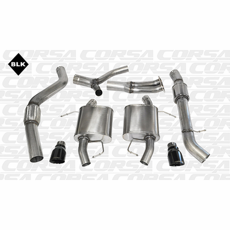 "CORSA 3.5"" Dual Rear Cat-Back Exhaust 2007-2012 BMW 335i E91 Touring"