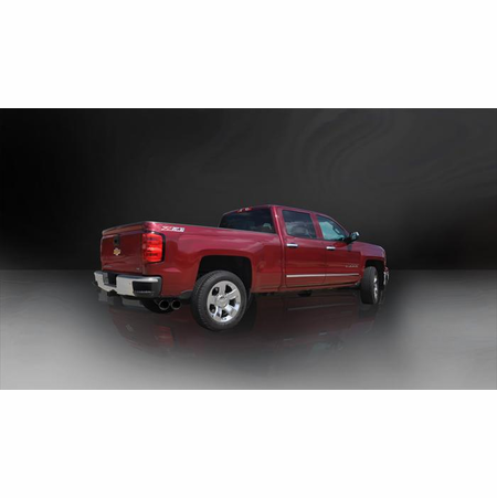 "CORSA 3.5"" Single Side Cat-Back Exhaust 2014-2014 GMC Sierra 1500 Double Cab/Standard Bed 6.2L V8 143.5"""