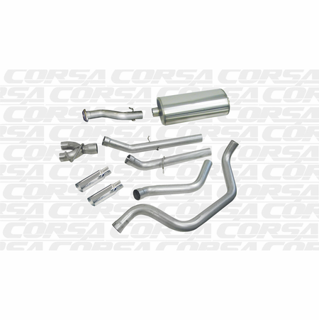 "CORSA/dB 3.0"" Dual Rear Cat-Back Exhaust 1999-2007 Chevrolet Silverado 1500 Regular Cab/Short Bed 5.3L V8 119"""
