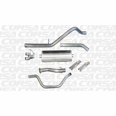 "CORSA/dB 3.0"" Dual Rear Cat-Back Exhaust 2010-2010 GMC Sierra 1500 Crew Cab/Short Bed 6.2L V8 143.5"""