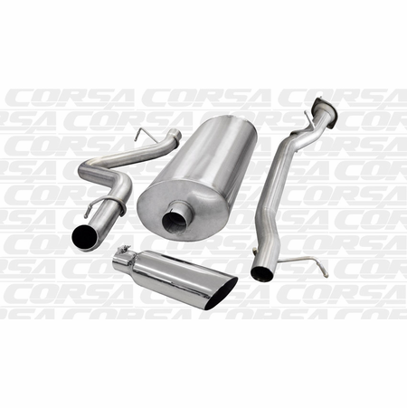 "CORSA/dB 3.0"" Single Side Cat-Back Exhaust 2007-2010 Chevrolet Silverado 2500 Extended Cab/Long Bed 6.0L V8 157.5"""