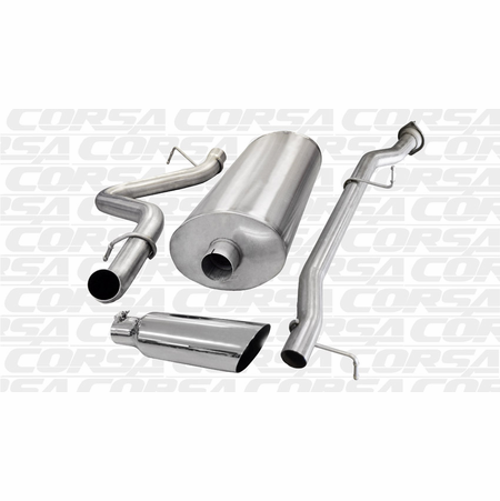"CORSA/dB 3.0"" Single Side Cat-Back Exhaust 2007-2010 Chevrolet Silverado 2500 Regular Cab/Long Bed 6.0L V8 133"""