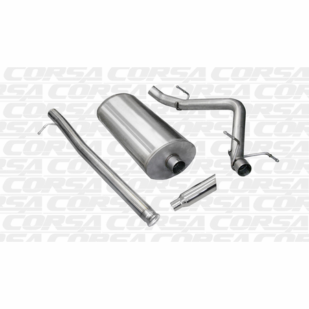 "CORSA/dB 3.0"" Single Side Cat-Back Exhaust 2010-2013 Chevrolet Silverado 1500 Crew Cab/Short Bed 5.3L V8 143.5"""