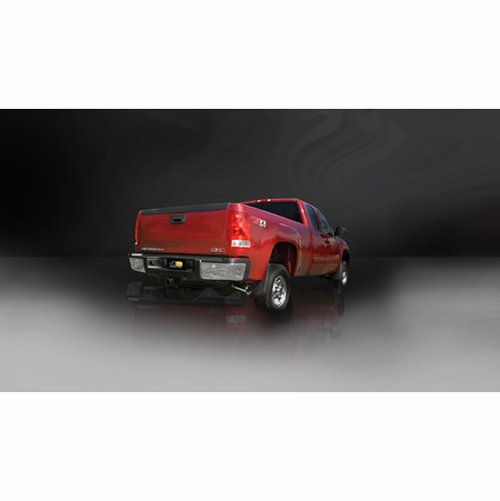 "CORSA/dB 3.0"" Single Side Cat-Back Exhaust 2011-2012 Chevrolet Silverado 2500 Extended Cab/Long Bed 6.0L V8 143.5"""