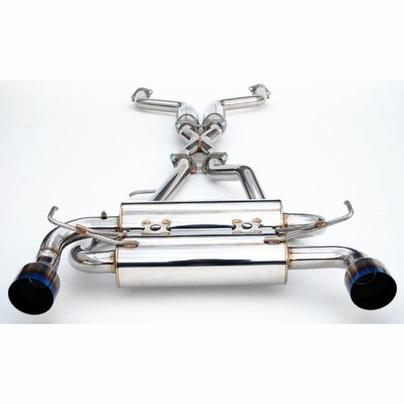 Invidia Gemini Single Layer Titanium Tips Cat-Back Exhaust for 09-UP Nissan 370Z